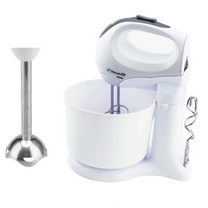 Mixer cu bol rotativ si blender vertical, 3 in 1, Hausberg HB 3517, 350W